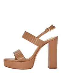 ALEXANDRE BIRMAN Veronica 120 Plateau Sandals | brown 70s look platforms