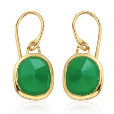 Catherine Duchess of Cambridge green drop earrings, MONICA VINADER Siren Wire Earrings Green Onyx, on a video call with schoolchildren in Mitcham, South London, 10 July 2020 | Kate Middleton jewellery | royal accessories - flipped