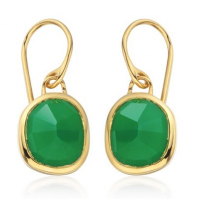 Catherine Duchess of Cambridge green drop earrings, MONICA VINADER Siren Wire Earrings Green Onyx, on a video call with schoolchildren in Mitcham, South London, 10 July 2020 | Kate Middleton jewellery | royal accessories