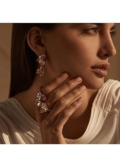 AMBER SCEATS Grande reece gold earrings ~ sculptural drops - flipped