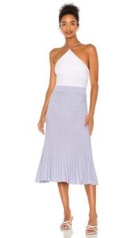 525 america Pleat Skirt Ice Blue | pleated midi skirts