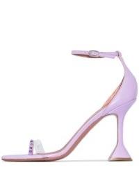 Amina Muaddi Oya 95mm crystal-embellished sandals – sculpted heels