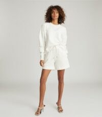 REISS ANNETTE JERSEY SHORTS WHITE / effortless casual style