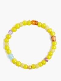 MUSA BY BOBBIE Aquamarine, amethyst & 18kt gold bead bracelet ~ vibrant yellow beaded bracelets ~ summer accessory