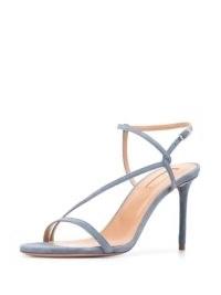Aquazzura strappy stiletto sandals cerulean blue