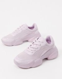 ASOS DESIGN Destined chunky trainers in lilac