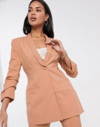 ASOS DESIGN Hourglass mix & match suit in blush ~ crop leg trouser suits