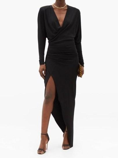 ALEXANDRE VAUTHIER Asymmetric gathered jersey dress ~ glamorous front wrap event dresses - flipped