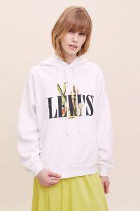 Levi's Cactus Hoodie White / logo branded hoodies