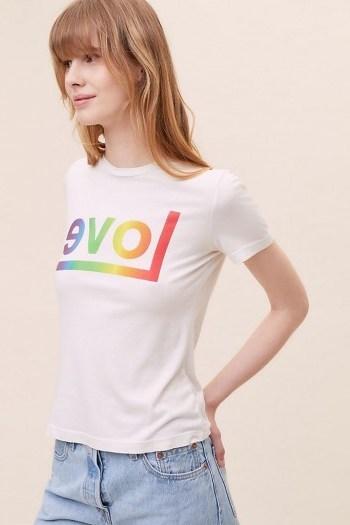 Sol Angeles Rainbow Love T-Shirt White / slogan t-shirts - flipped
