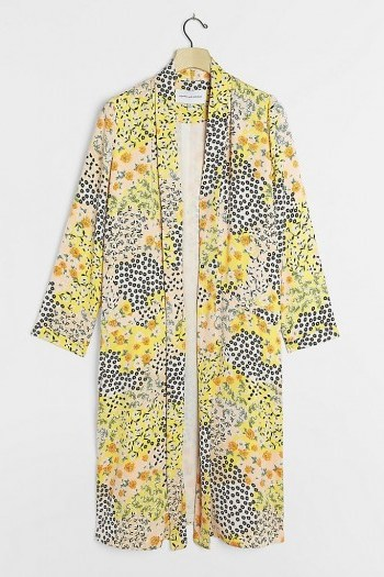 BB Dakota Adele Floral Duster Jacket - flipped
