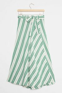 Maeve Franconia Striped Maxi Skirt Green Motif