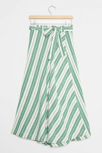 Maeve Franconia Striped Maxi Skirt Green Motif