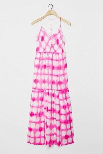 Maeve Geneva Maxi Dress Pink / strappy racerback dresses - flipped
