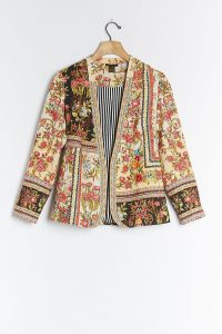 Vineet Bahl Lula Embroidered Blazer / multi print floral jacket