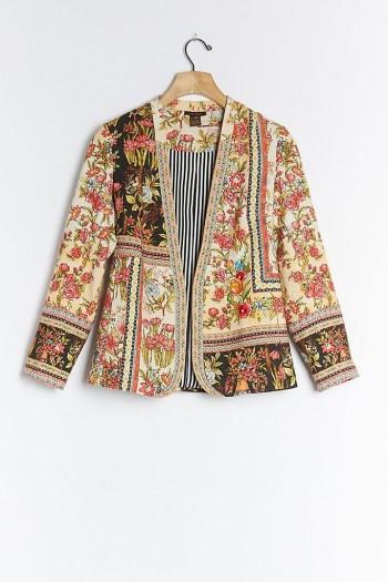 Vineet Bahl Lula Embroidered Blazer / multi print floral jacket