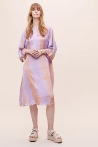 ANTHROPOLOGIE Alli Tie-Dye Tunic / purple tunics