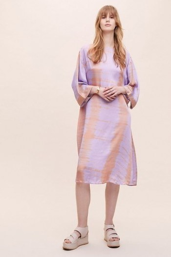ANTHROPOLOGIE Alli Tie-Dye Tunic / purple tunics - flipped