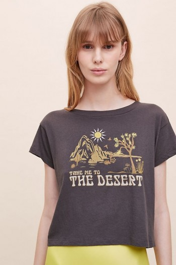 Girl Dangerous Take Me To The Desert Tee / black short sleeve slogan t-shirts