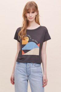Girl Dangerous Ends Of The Earth Tee / black slogan t-shirt