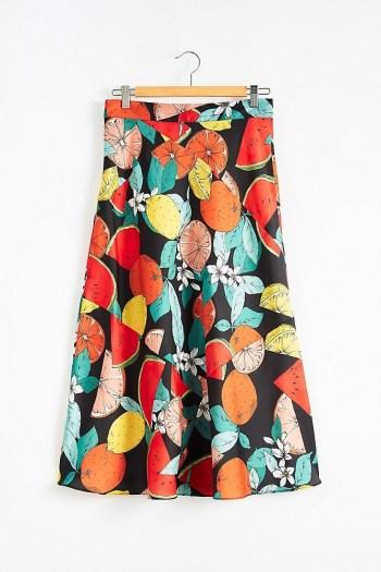 Kachel Paloma Fruit Bias Slip Skirt / fruit print skirts