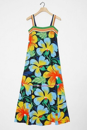 Maeve Nikoleta Maxi Dress / bold flower printed sundress - flipped
