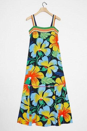 Maeve Nikoleta Maxi Dress / bold flower printed sundress