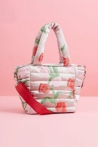 HVISK Quilted Tote Bag / pink top handle bags