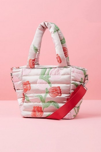 HVISK Quilted Tote Bag / pink top handle bags - flipped