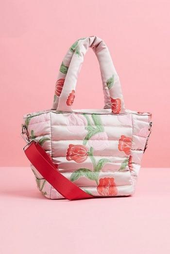 HVISK Quilted Tote Bag / pink top handle bags