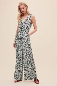 Kachel Reina Floral Jumpsuit ~ sleeveless wide-leg jumpsuits