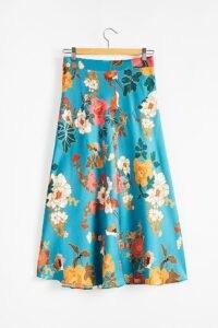 Kachel Almeria Floral Bias Slip Skirt