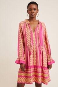 Maeve Valentia Tunic Dress Pink Combo