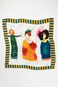 Anthropologie Doll Silk Scarf / printed scarves