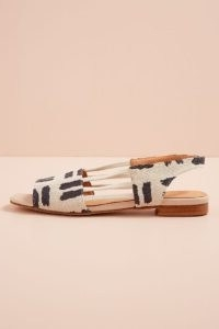 Naguisa Ximena Slingback Flats / navy and white peep toe slingbacks