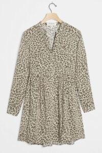 Cloth & Stone Cheetah Mini Dress Olive