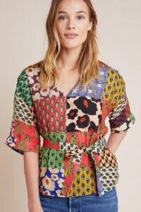 Dhruv Kapoor Leandra Blouse / mixed print blouses / tigers
