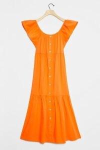 Amadi Luiza Tiered Maxi Dress / orange off the shoulder dresses / summer clothing