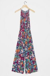 ANTHROPOLOGIE Martina Pleated Jumpsuit / floral jumpsuits