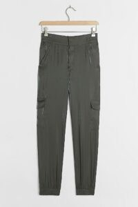 ANTHROPOLOGIE Shimmer Cargo Joggers / essential weekend trousers