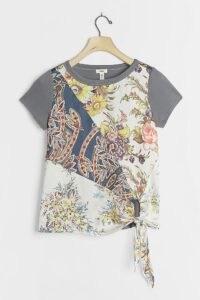TINY Jodie Tie-Front Tee / tie detail t-shirts