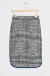 Maeve Plaid Midi Skirt / curved hem skirts