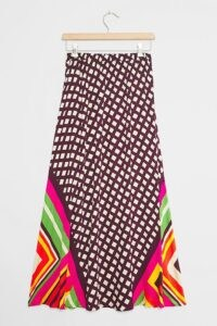 Franziska Maxi Skirt | Anthropologie / bold mixed print skirts