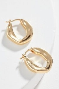 Gilda Huggie Hoop Earrings | Anthropologie / sculpted huggies