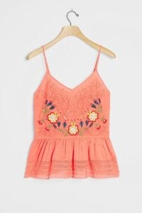 Seen Worn Kept Gia Embroidered Tank Coral