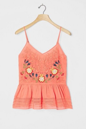 Seen Worn Kept Gia Embroidered Tank Coral - flipped