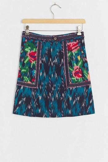 Pilcro Anahi Embroidered Mini Skirt | Anthropologie skirts
