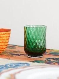 CABANA MAGAZINE Balloton stemless wine glass ~ green Italian glassware