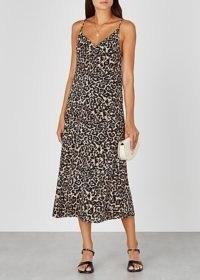 BAUM UND PFERDGARTEN Asta leopard-print midi dress / wild animal prints