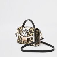 River Island Beige animal print embellished cross body bag | leopard crossbody bags